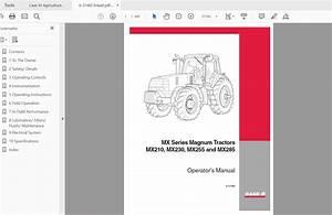 Case Ih Tractor Mx210 Mx230 Mx255 Mx285 Series Magnum Operator U0026 39 S Manual 6-31483 - Homepage