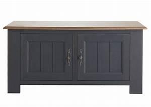 Meuble Tele Gris : acheter votre meuble t l moderne bicolor ch ne gris et bois avec 2 portes chez simeuble ~ Teatrodelosmanantiales.com Idées de Décoration