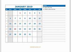 Calenda 2019 Calendarios 2019 para imprimir, calendarios