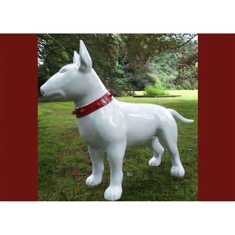 chien decoratif en resine animal r 233 sine d 233 coratif bull terrier sign 233 texartes