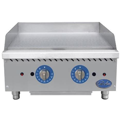 Countertop Griddle Gas - globe gg24tg 24in thermostatic gas griddle