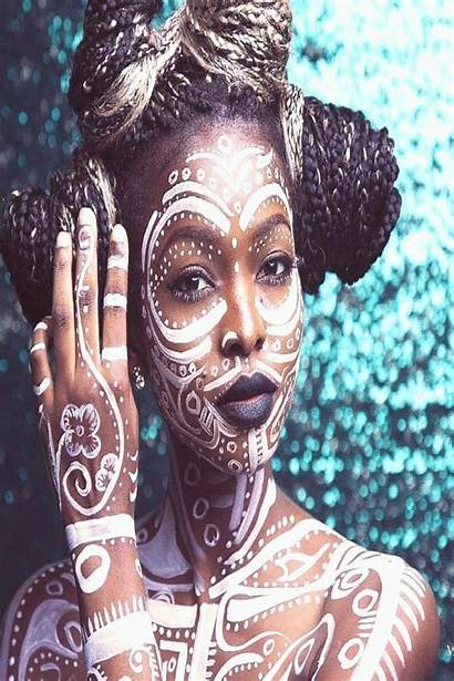 Tribal Painting English African Face