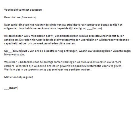 Contract niet verlengd
