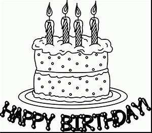 Free Clip art of Birthday Cake Clipart Black and White ...