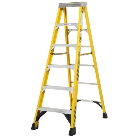 ladder review werner 6 ft fiberglass step ladder with 375 lb load capacity type iaa duty rating fiaa06 the
