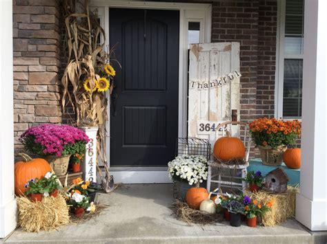 Fall porch 2016 Fall porch Ladder decor Decor