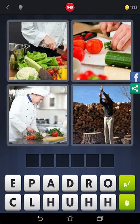 4 images 1 mot cuisinier découper cuisine fendre android iphone