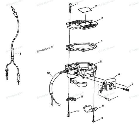 polaris atv 1998 oem parts diagram for controls throttle asm cale s98ch50e 4950135013b010