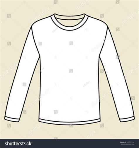 sleeve t shirt template blank longsleeved tshirt template stock vector 105172214