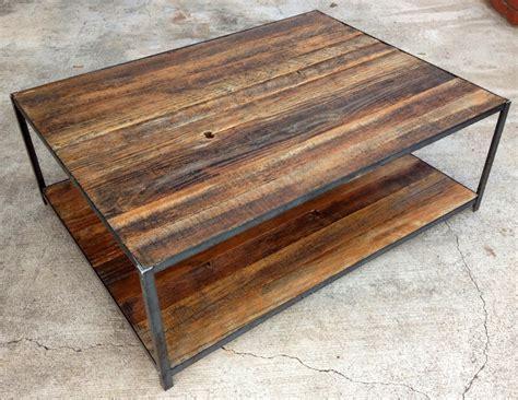 wood and iron desk reclaimed wood and angle iron coffee table 400 00 via