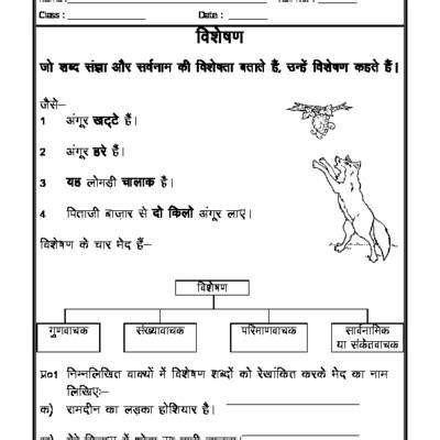 hindi vyakaran visheshan adjectives a hindi
