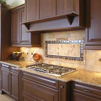 kitchen backsplash ideas Santa Cecilia Granite with Dark Cabinets Backsplash Ideas