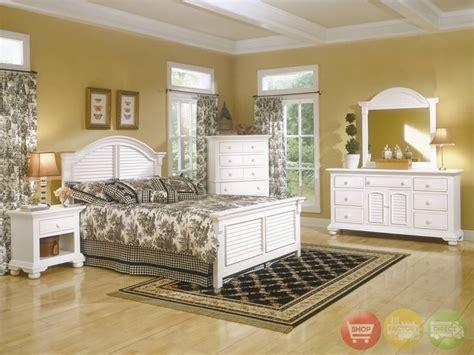 Cottage Bedroom Set by Cottage Traditions Distressed White Bedroom Furniture Set