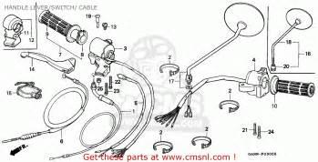 honda st70 dax 1994 r general export kph handle lever switch cable schematic partsfiche