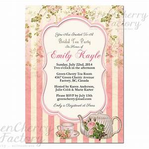 Items similar to Tea Party Invitation - Bridal Shower ...