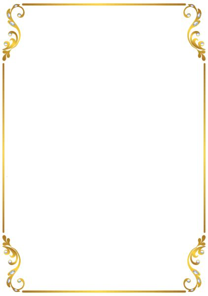 border frame gold transparent png gallery yopriceville high quality and