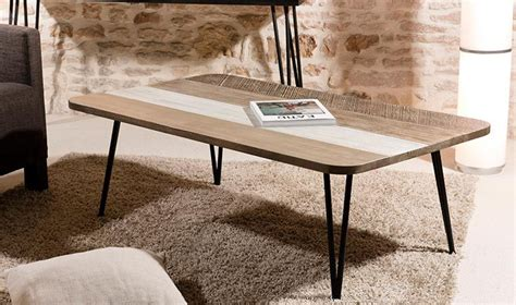 table de salon scandinave table basse scandinave en bois massif et m 233 tal