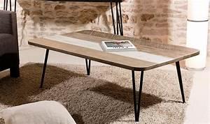 Table Basse Tendance : table basse scandinave en bois massif et m tal ~ Teatrodelosmanantiales.com Idées de Décoration