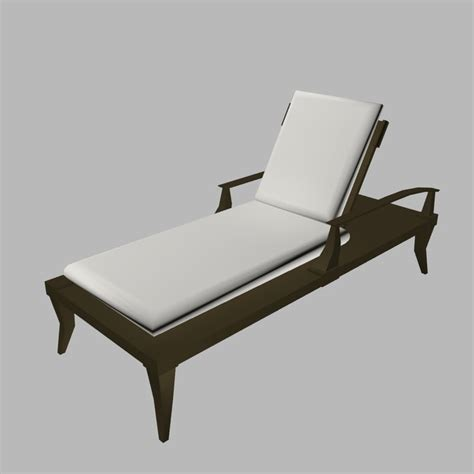 chaise dwg deck chaise lounge 3d model