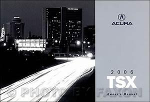2006 Acura Tsx Owner U0026 39 S Manual Original