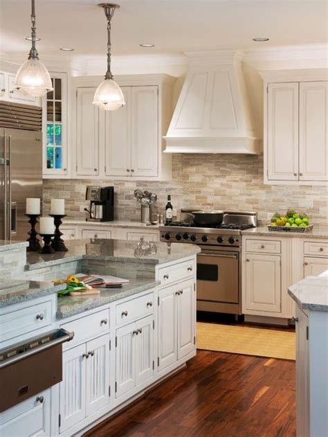 houzz kitchens backsplashes transitional kitchen with granite countertops design ideas