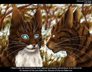 Hawkfrost and Brambleclaw. Hawkfrost really is a soldier ...