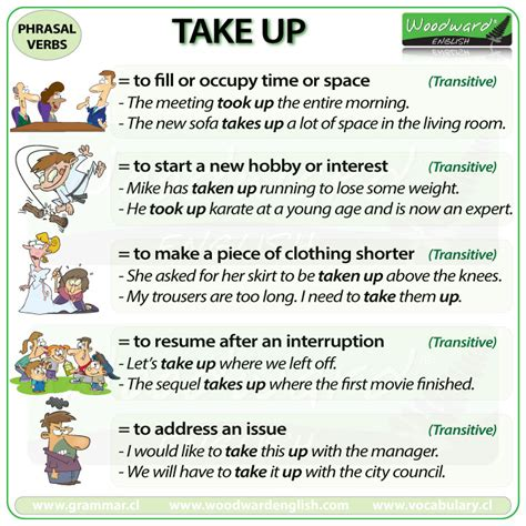 phrasal verb meanings  examples woodward