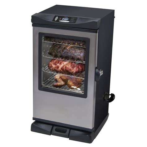 electric smokers shop masterbuilt 33 7 in 800 watt electric vertical smoker at lowes com