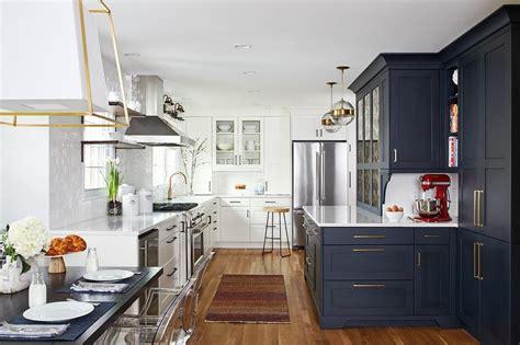 blue shaker kitchen cabinets design ideas
