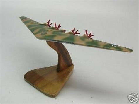 Xb35 Flying Wing Northrop Airplane Desk Wood Model Small