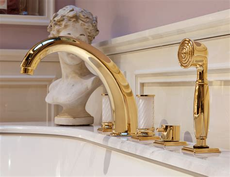 lutetia  luxury italian bathroom vanity  malva lacquer gold wood