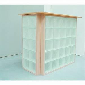 Panneau Brique De Verre : panneaux de briques de verre cadre bois bricokit bois ~ Dailycaller-alerts.com Idées de Décoration