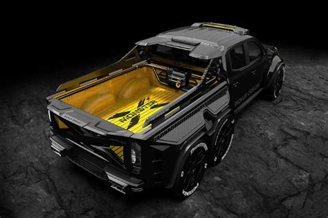 The classic character of the car has been marked with nappa leather, was stated on the page of the exy extreme. The Mercedes-Benz EXY Monster X Is A 6x6 Pickup Truck In Carbon Fiber Armor | Custom trucks ...