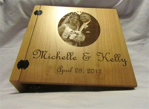 personalized 3 ring wedding photo album