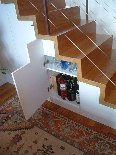 escalier gain de place astuce rangements optimisation