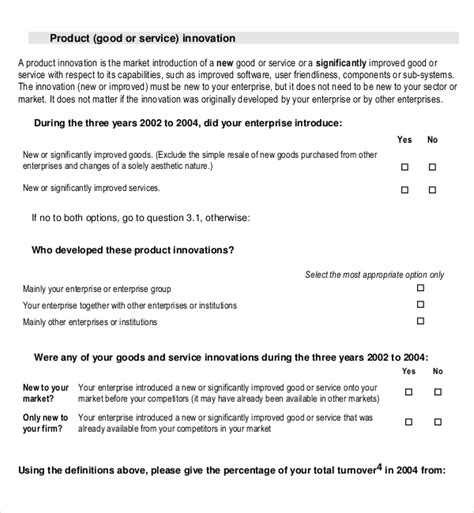 product survey template   word  documents