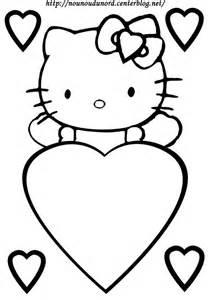 Coloriage Coeur Hello Kitty Dessin Par Nounoudunord