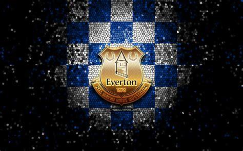 Download wallpapers Everton FC, glitter logo, Premier ...