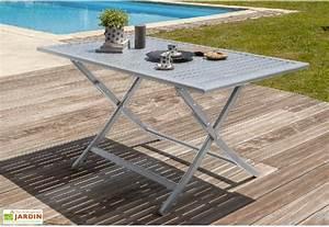 Table De Jardin En Aluminium : salon de jardin orlando pliant en aluminium table 140 cm 4 chaises dcb garden ~ Teatrodelosmanantiales.com Idées de Décoration