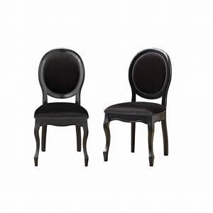 Chaise Tissu Noir : chaise m daillon en tissu lot de 2 noir fiona achat ~ Teatrodelosmanantiales.com Idées de Décoration