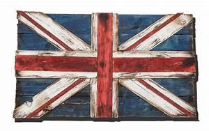Union Jack Flag Weathered distressed Wood flag limited ...