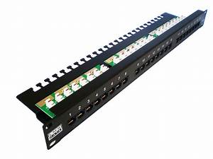 24 Port Cat5e Patch Panel Vertical Punchdown Ppan