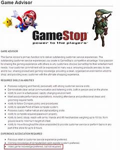 Game software knowledge gamestop application video game for Cover letter for gamestop