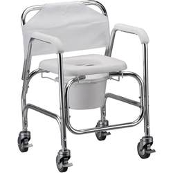 commode shower chair with wheels 162 free shipping
