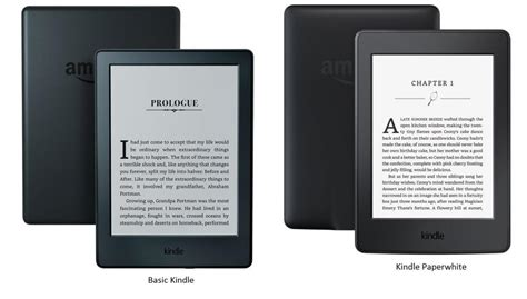 kindle vs kindle paperwhite compare to your right kindle