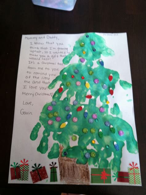 search results for handprint christmas tree poem
