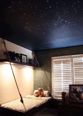 what about painting the ceiling with dots of uv paint so