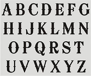 ALPHABET STENCILS A-Z UPPER CASE Letters DIY Craft Supplies