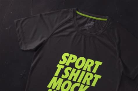 This free mockup designed by professional. This is a versatile sport psd t-shirt mockup the can also ...