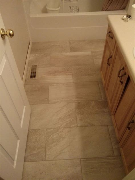 Bathroom Floor Tile Installation by Pin By A Z On Tile Shopping 12x24 Tile Large Floor